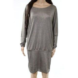 The Vanity Room Womens Petite Scoop-Neck Sheath Dress