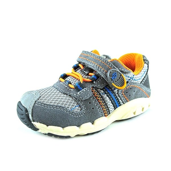 Stride Rite M2P Baby Knox Toddler Round Toe Leather Gray Sneakers