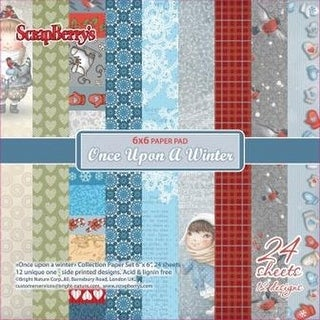 "Scrapberry's Once Upon A Winter Paper Pack 6""X6"" 24/Pkg-12 Single-Sided Designs/2 Each"