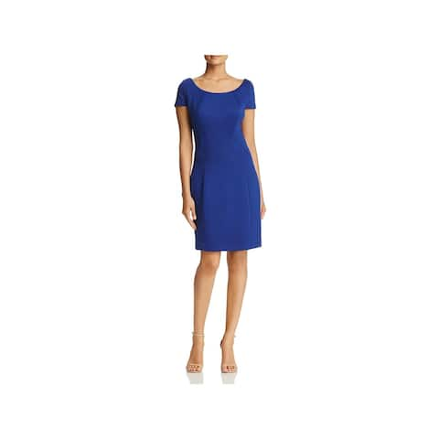 01f63ef7aef Elie Tahari Womens Bernice Cocktail Dress Short Sleeves Knee-Length