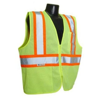 Radians SV22-2ZGM-M Class 2 Economy Mesh Safety Vest With Zipper, Medium, Green