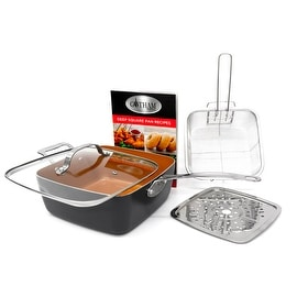 "Gotham Steel Ti-Cerama 9.5"" Deep Square Pan With Lid"