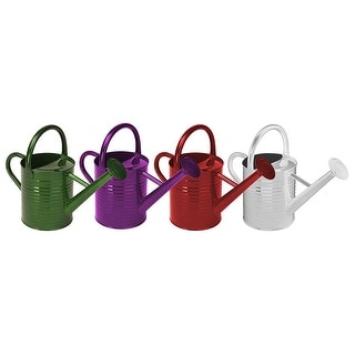 4-Liter or 1-Gallon 4 Assorted Primary Colors Panacea 84830 Metal Traditional Painted Watering Can