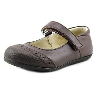 See Kai Run Meredith Toddler Round Toe Leather Brown Mary Janes
