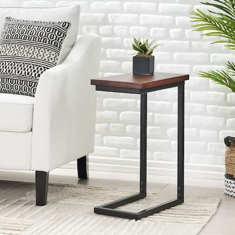 Hilldale Handcrafted Boho C-Shaped End Table by Christopher Knight Home