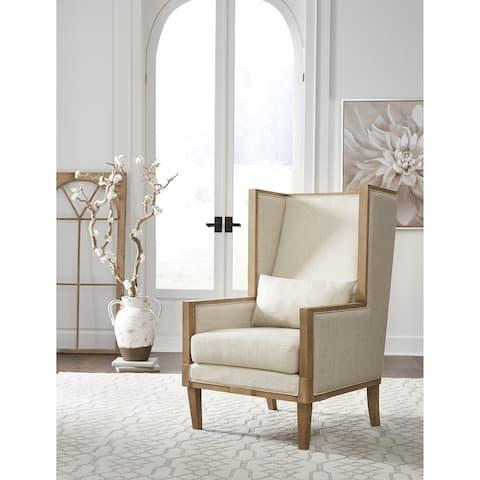 """Avila Modern Farmhouse Linen Accent Chair - 29""""W x 32""""D x 46""""H"""