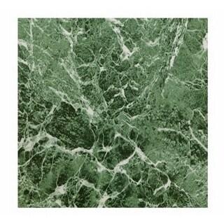 KD0108 12.25 x 1.5 in. Green Marble Peel & Stick Vinyl Floor Tile -
