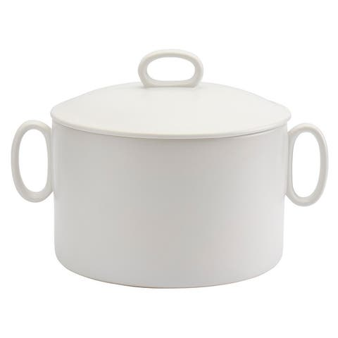 Tabletops Gallery White 3.2Qt Soup Tureen with Handles & Lid
