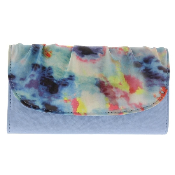 Kenneth Cole Reaction Womens Clutch Wallet Faux Leather Floral Print