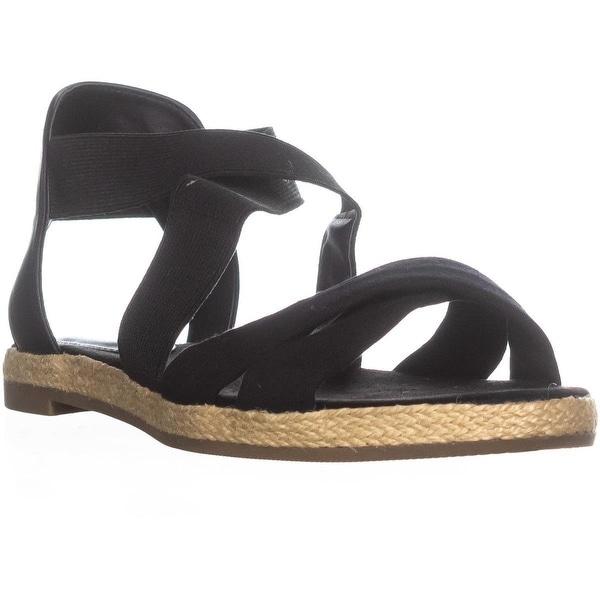 GB35 Colbey Espadrille Flat Sandals, Black - 7.5 us