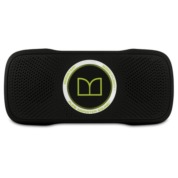 Monster SuperStar BackFloat Wireless Bluetooth Speaker - Black and Neon Green