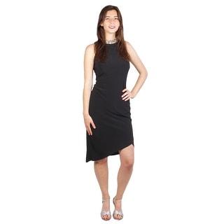 Jersey Dress Beaded Neck