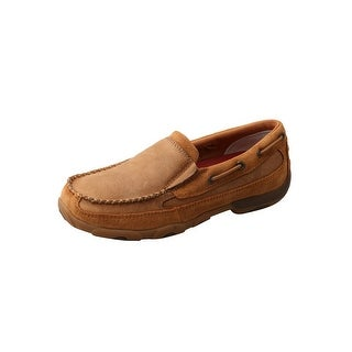 Twisted X Casual Shoes Womens Driving Mocs Leather Boat Tan