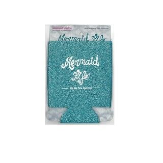Mermaid Life Sparkle Drink Insulator Teal