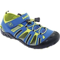 Kamik Children's Crab Closed Toe Sandal Blue Synthetic Leather