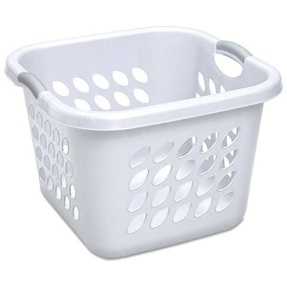 "Sterlite 12178006 Laundry Basket, White , 19"""