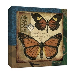 """PTM Images 9-153235  PTM Canvas Collection 12"""" x 12"""" - """"Modern Curiosity IV"""" Giclee Butterflies Art Print on Canvas"""
