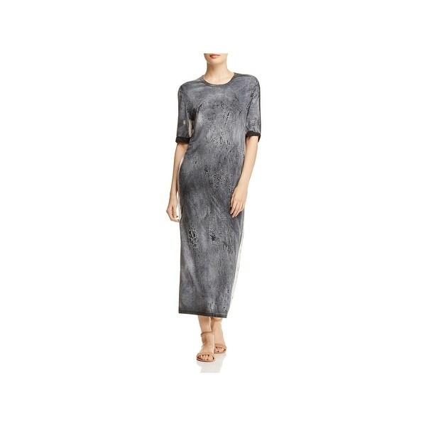 bf7feff815f17 Shop IRO. Jeans Womens Tais Maxi Dress Tie-Dye Cuffed Sleeve - Free ...