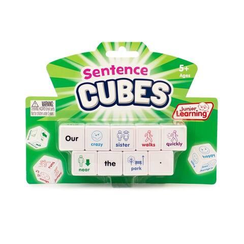 Sentences Cubes Educational Learning Set - White