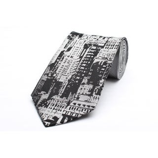 Versace Men's Medusa Logo Silk Neck Tie A9131 Grey