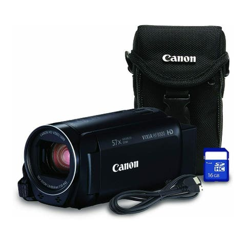 Canon VIXIA HF R800 Camcorder (Black) with 16GB Card and Carrying Case
