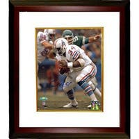 Earl Campbell signed Houston Oilers 8X10 Photo Custom Framed white jersey TriStar Hologram