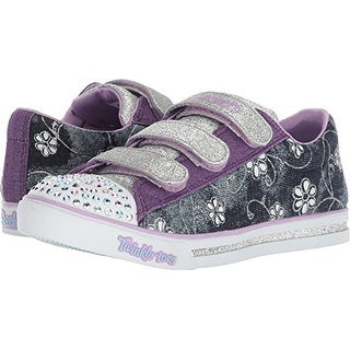 Skechers Kids Girl's Sparkle Glitz - Denim Daisy (Little Kid/Big Kid) Denim 4 M Us Big Kid