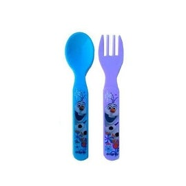 ZAK! Disney Frozen Olaf 4 Piece Fork and Spoon Set
