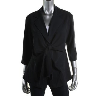 Maternal America Womens Elbow Sleeves Tie Front One-Button Blazer - XS