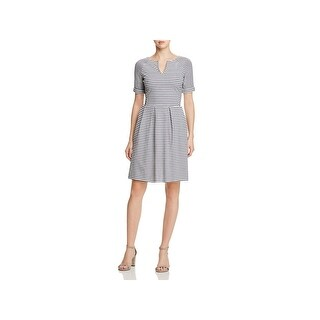 Three Dots Womens Casual Dress Pleated Knee-Length (3 options available)