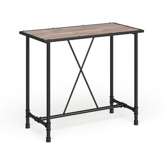 Link to Carbon Loft Leona Rustic Oak and Metal Bar Table Similar Items in Dining Room & Bar Furniture