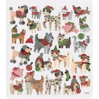 Christmas Dogs - Multicolored Stickers