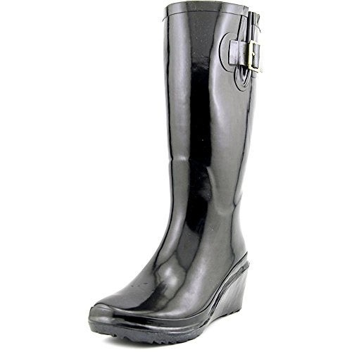 Giani Bernini Alley Women Round Toe Synthetic Black Rain Boot
