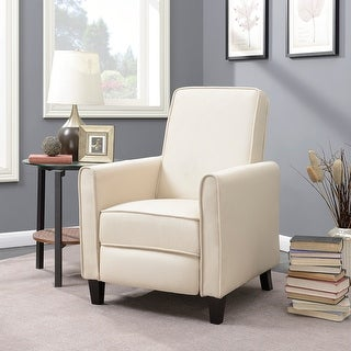 Belleze Modern Living Room Furniture Design Recliner Club Linen Chair Accent