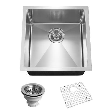 "Houzer CNR-1700 Savoir 17"" Single Basin 18 Gauge Bar/Prep Sink for - Stainless Steel"