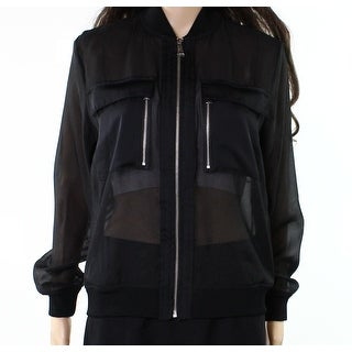 Lauren by Ralph Lauren Women Small Sheer Bomber Jacket