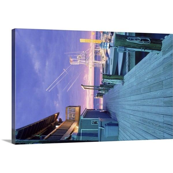 """""""Dock at dusk, Islamorada, FL"""" Canvas Wall Art"""