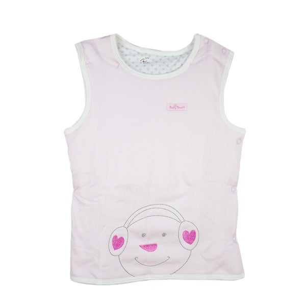 0-1 year infant toddler Cotton Sleeveless round collar Vest Unisex Baby Pullover Pink 80