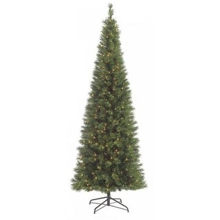 Autograph Foliages C-60131 - 9 Foot Pencil Pine Tree - Green - Clear Lights