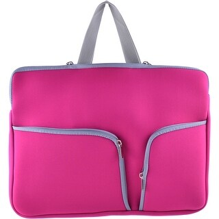 15.6 Polyester Shockproof Notebook Laptop Sleeve Carrying Bag Fuchsia