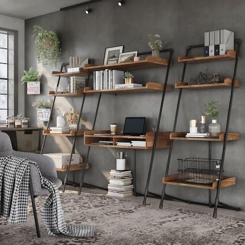 Furniture of America Callana 42-inch 3-piece Desk and Display Shelf Set