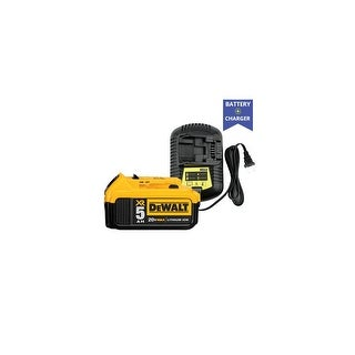 Replacement Dewalt DCB101 Charger and Replacement Dewalt DCB205 Battery (Combo Pack) Replacement Charger