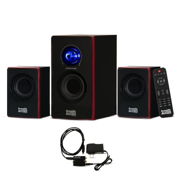 Acoustic Audio AA2103 Bluetooth Home 2.1 Speaker System with Optical Input