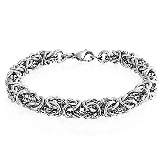 Bling Jewelry Stainless Steel Twisted Rope Link Byzantine Bracelet 8.5in