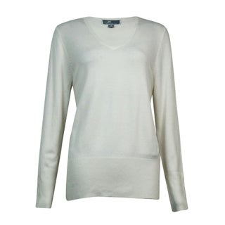 JM Collection Women's V-Neck Button-Sleeves Sweater (More options available)