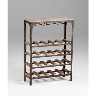 """Cyan Design 4978 34"""" Gallatin Wine Rack Wine Rack - raw iron / natural wood"""
