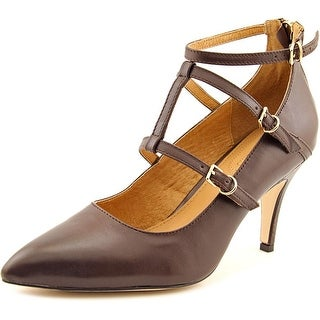 Corso Como Carter Women Pointed Toe Leather Brown Heels
