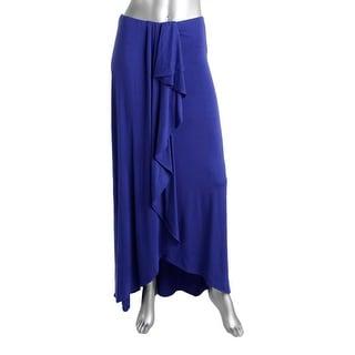 Ella Moss Womens Cascade Ruffle Convertible Maxi Skirt - XS