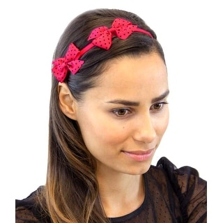 Double Trouble Colorful Twin Bows Stretchy Headband