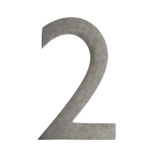 Architectural Mailboxes 3582-2 4 Inch Solid Cast Hand Finished Brass House Numbers - N/A
